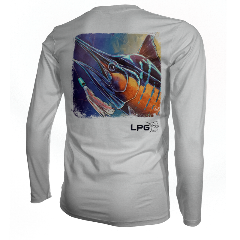 LPG Apparel Co. Electric Marlin Vibe Performance Shirt UPF 50