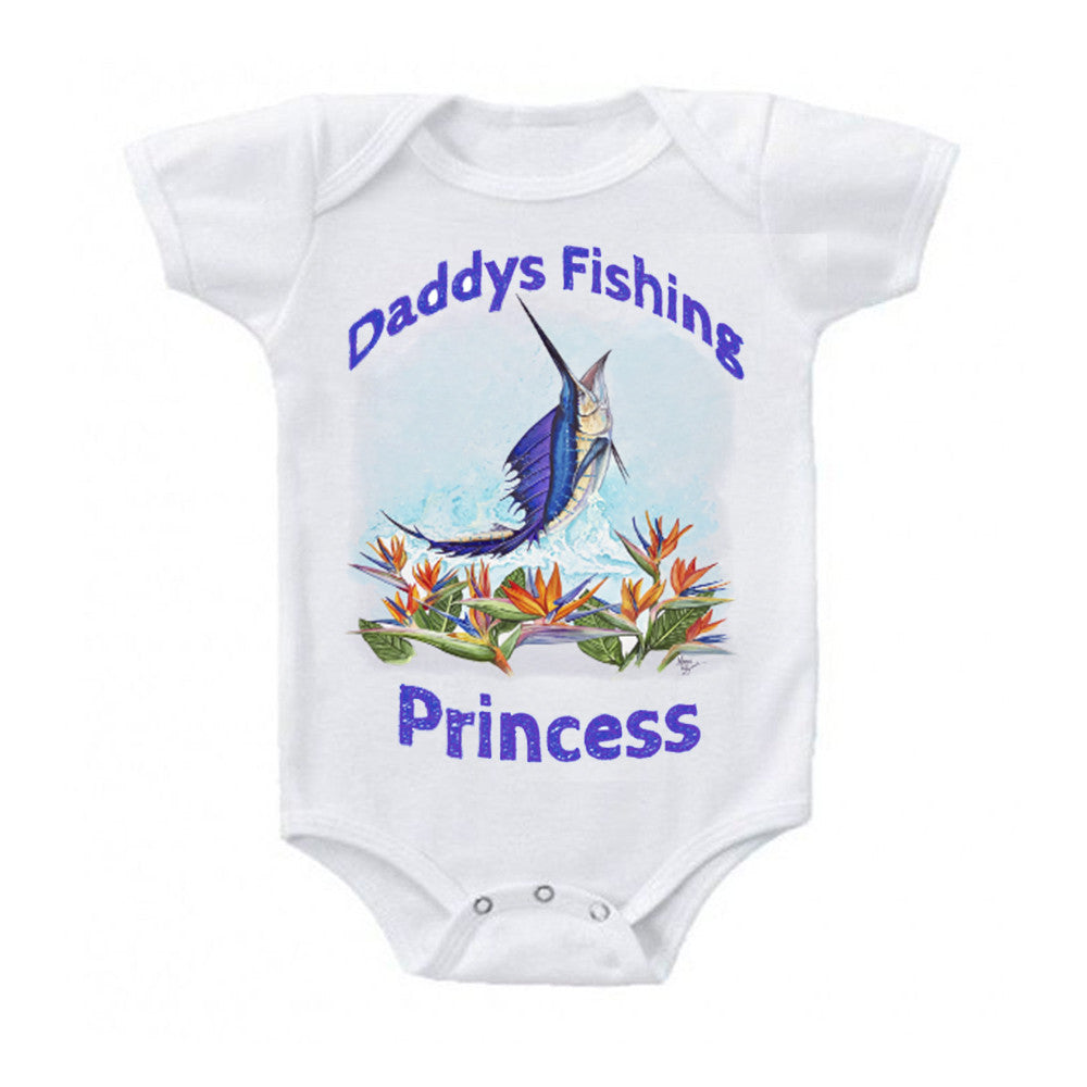 lobo-sportfishing - Baby Onesie Mark Ray Sailfish Paradise  0-18 months - Lobo Marine Products LLC. - Apparel