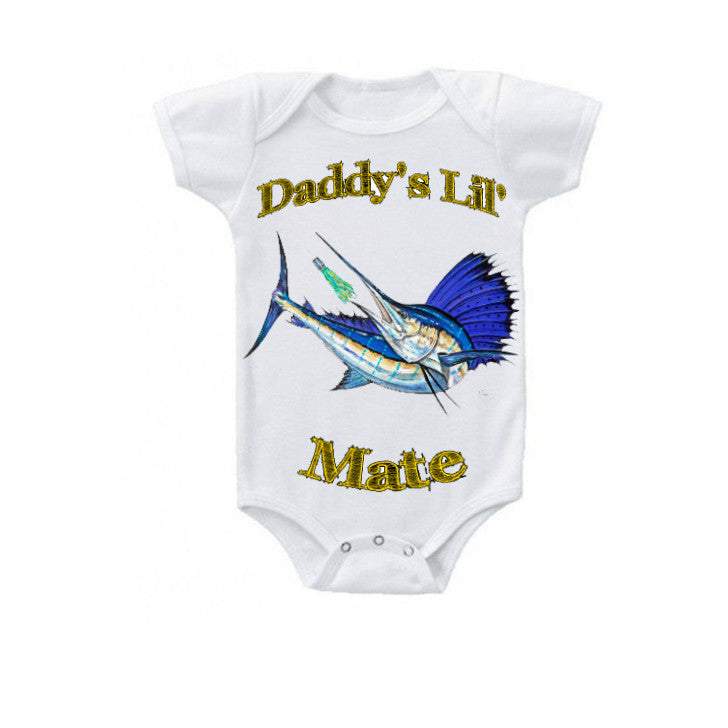 lobo-sportfishing - Baby Onesie Mark Ray Daddy's Little Mate 0-18 months - Lobo Marine Products LLC. - Apparel