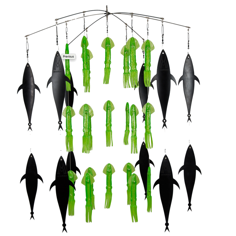 "36"" Super Glow Series Squid Spreader Bars"
