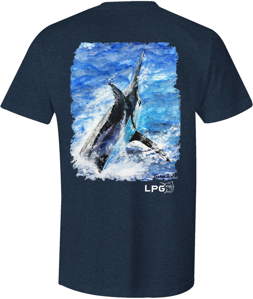 Lobo Lures | LPG Apparel Co.® Grander Marlin T-shirt, Marlin fishing tee, marlin fishing T-Shirt, Marlin Tee, Fishing Tee, Fishing T-Shirt, Offshore Fishing Tee, Offshore Fishing T-Shirt
