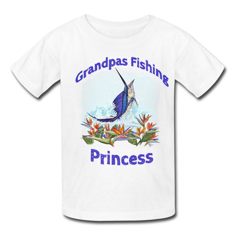 lobo-sportfishing - Toddlers Sailfish Fishing Princess T-Shirt 2T-5T - Lobo Marine Products LLC. - Apparel