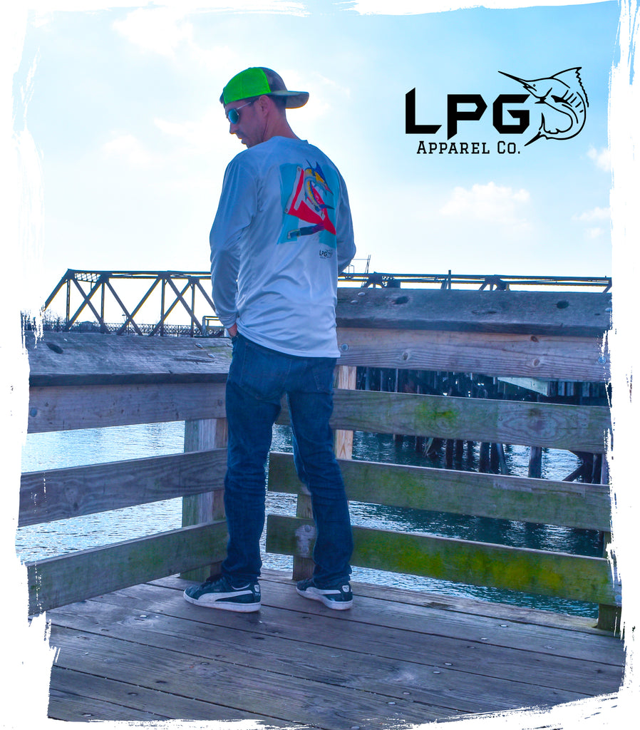 LPG Apparel Co. Flag Edition Tag & Release Marlin LS Performance UPF 50+ T-Shirt
