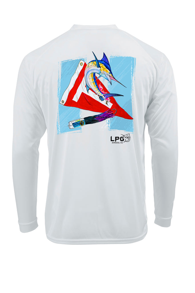 LPG Apparel Co® Tag & Release Guatemala Flag Edition Long Sleeve Performance UPF 50+ T-Shirt, American T-Shirt, Fishing Tee, Fishing T-Shirt, Fourth of July T-shirt, MERICA T-shirt, Fishing Tee, Casa Veija