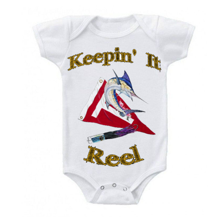 lobo-sportfishing - LPG Apparel Co. Baby Onesie Mark Ray Keepin' It Reel  0-18 months - Lobo Marine Products LLC. - Apparel