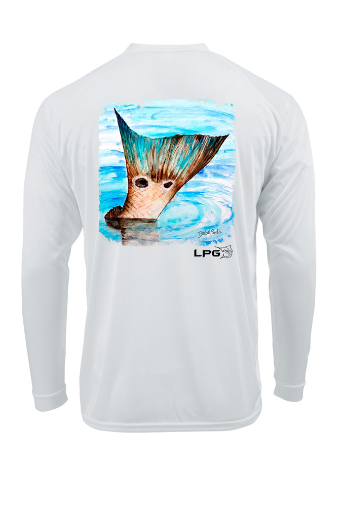 LPG Apparel Co. Redfish Tail Performance UPF 50 Dri-Fit Long Sleeve T-Shirt
