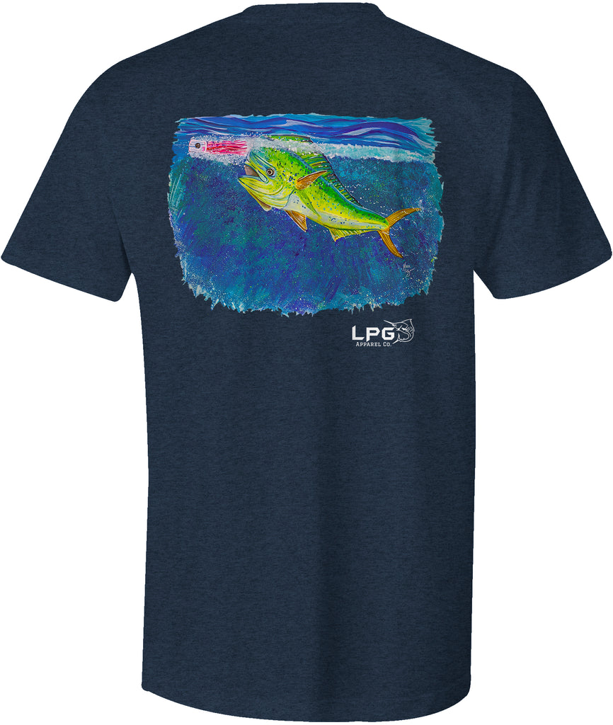 LPG Apparel Co. Screamin' Mahi T-Shirt Fishing T-shirt, Offshore fishing Tee, Offshore fishing t-shirt, Fishing apparel, Christmas Fishing t-shirt
