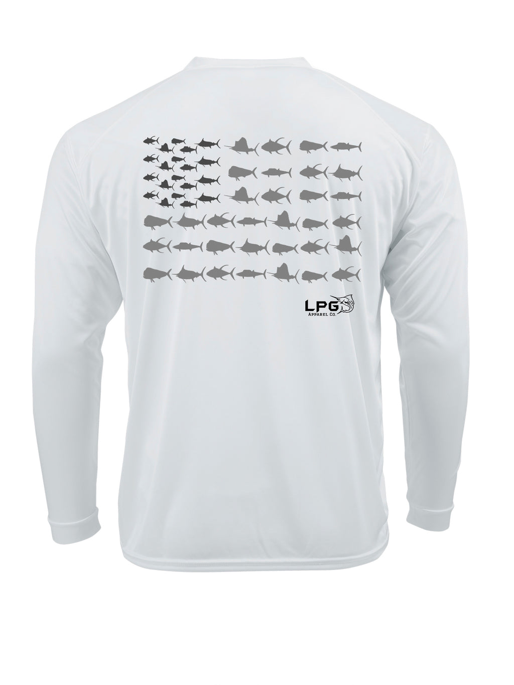 LPG Americano Patriotic Big Game Fish Edition Long Sleeve Performance UPF 50+  T-Shirt