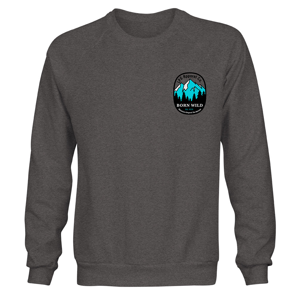 lobo-sportfishing - LPG Apparel Co. Born Wild Outdoors Unisex Crew Neck Sweater - Lobo Lures -