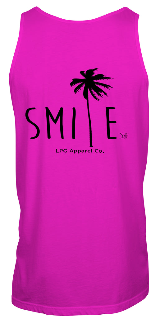 lobo-sportfishing - LPG Apparel Co. Smile Palm Tree Surf Unisex Tank Top - LPG Apparel Co. - Tank