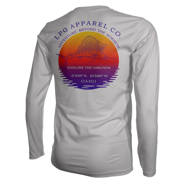 LPG Apparel Co. Sailfish Paradise Oahu Hawaii Performance Shirt UPF50