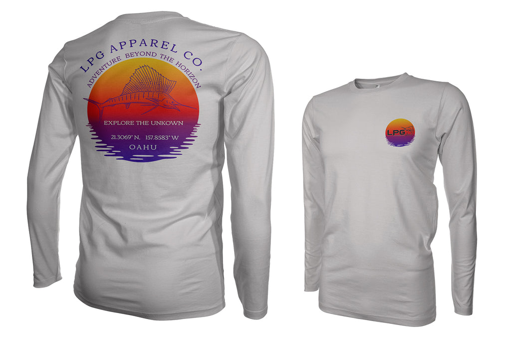 lobo-sportfishing - LPG Apparel Co. Sailfish Paradise Oahu Hawaii Performance Shirt UPF50 - LOBO PERFORMANCE GEAR -