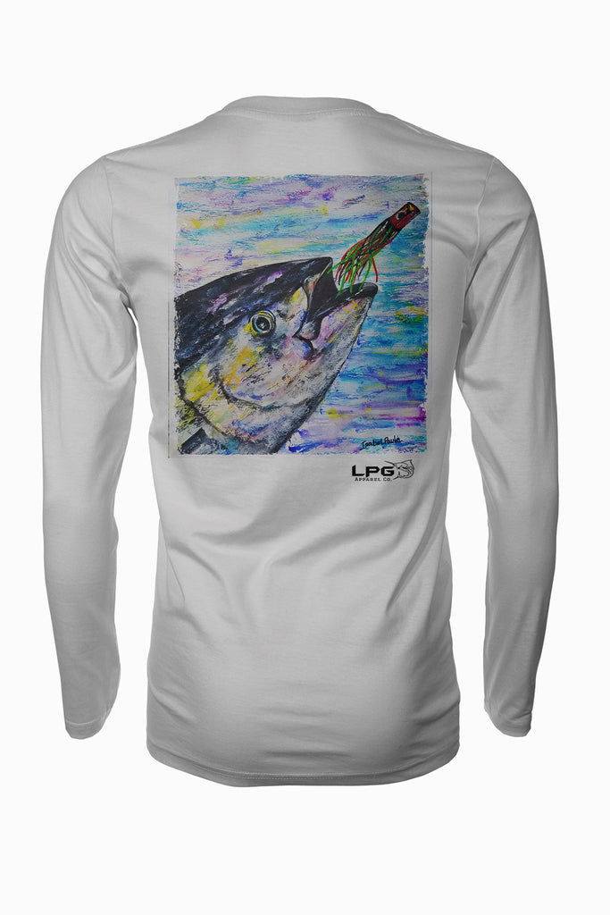 lobo-sportfishing - LPG Apparel Co. Yellowfin Chase Rash Guard LS Performance UPF 50 Unisex Shirt - Lobo Lures -