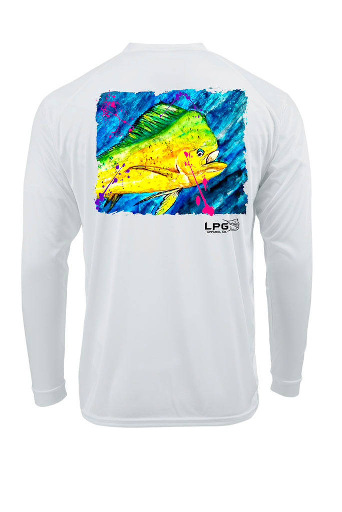 lobo-sportfishing - Lobo Lures LPG Electric Mahi Vibe Performance UPF 50+ T-shirt - LOBO PERFORMANCE GEAR -