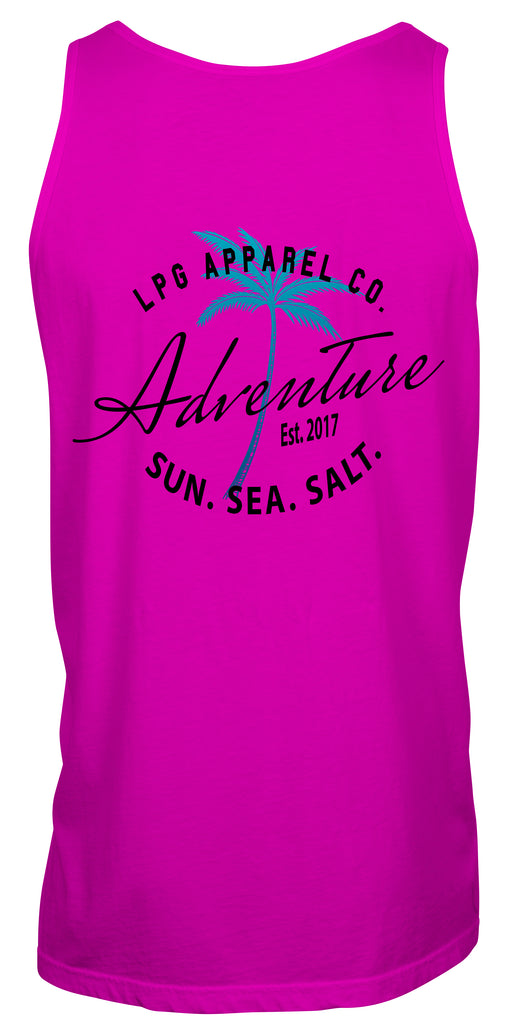 lobo-sportfishing - LPG Apparel Co. Adventure Palms Sun. Sea. Salt. Surf Unisex Tank Top - LPG Apparel Co. - Tank