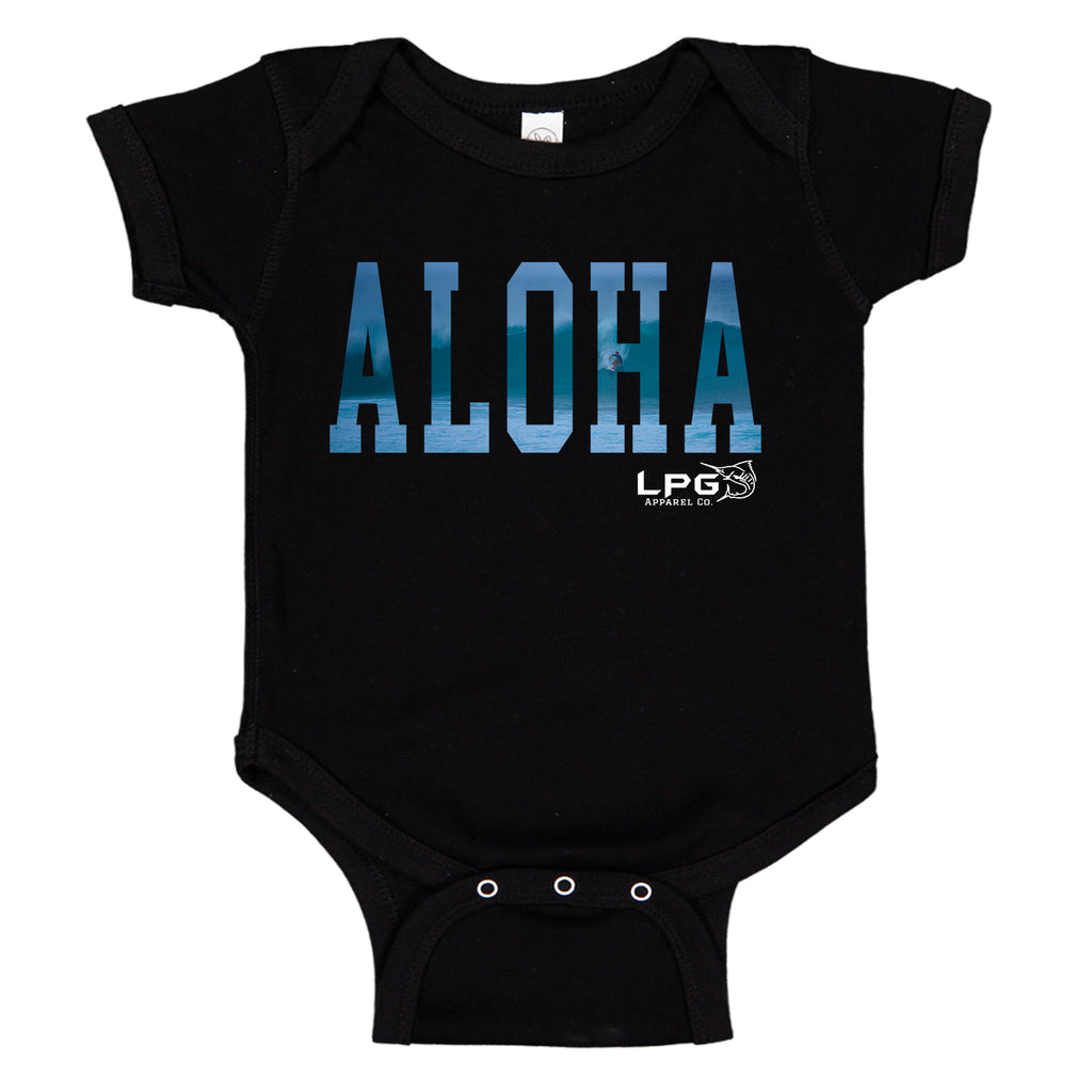 LPG Apparel Co. ALOHA Hawaii Vibes Surfer Baby One-piece Romper