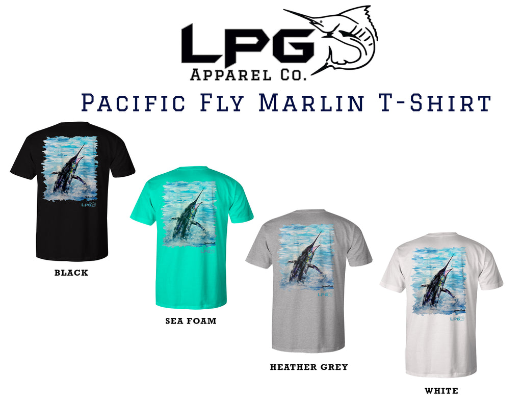 lobo-sportfishing - LPG Apparel Co. Pacific Fly Marlin T-Shirt - LPG Apparel Co. - T-Shirt