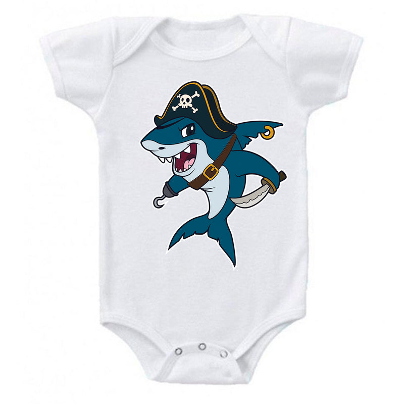 LPG Apparel Co. Pirate Great White Shark Baby One-piece Romper