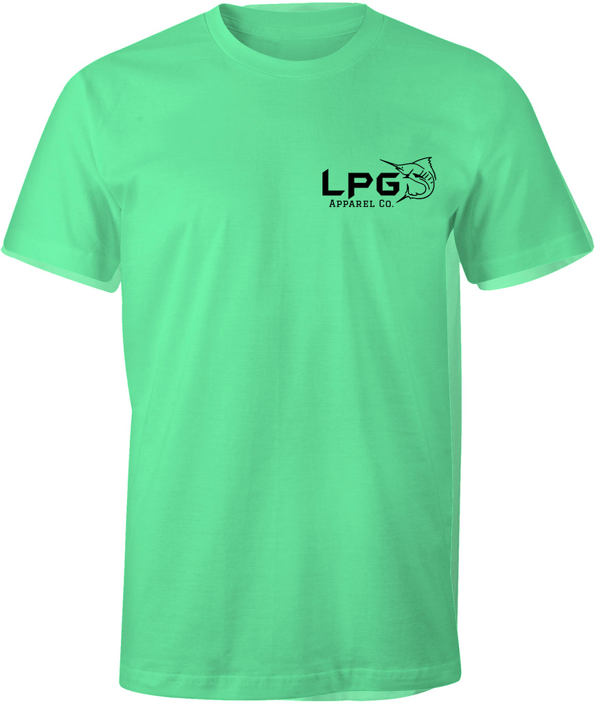 lobo-sportfishing - LPG Apparel Co. Surf. Fish. Dive. Crossed Gaff Premium T-Shirt - LPG Apparel Co. - T-Shirt
