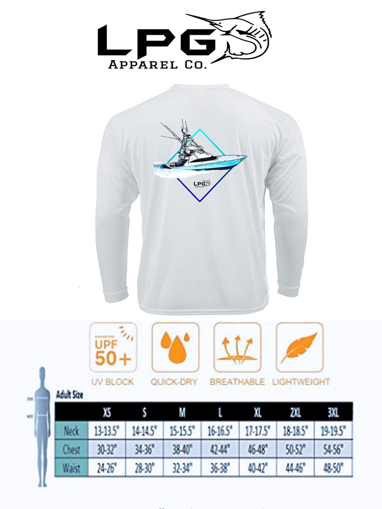 LPG Apparel Co®  Diamond Sportfish LS Performance UPF 50+ T-Shirt