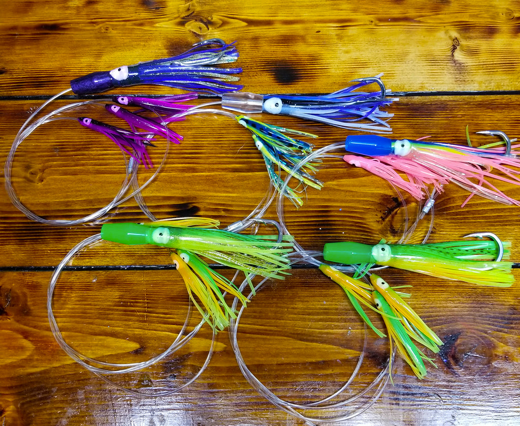 lobo-sportfishing - Lobo Lures #211 Micro-Typhoon Tuna Squid Daisy Chains - Lobo Lures - Daisy Chains