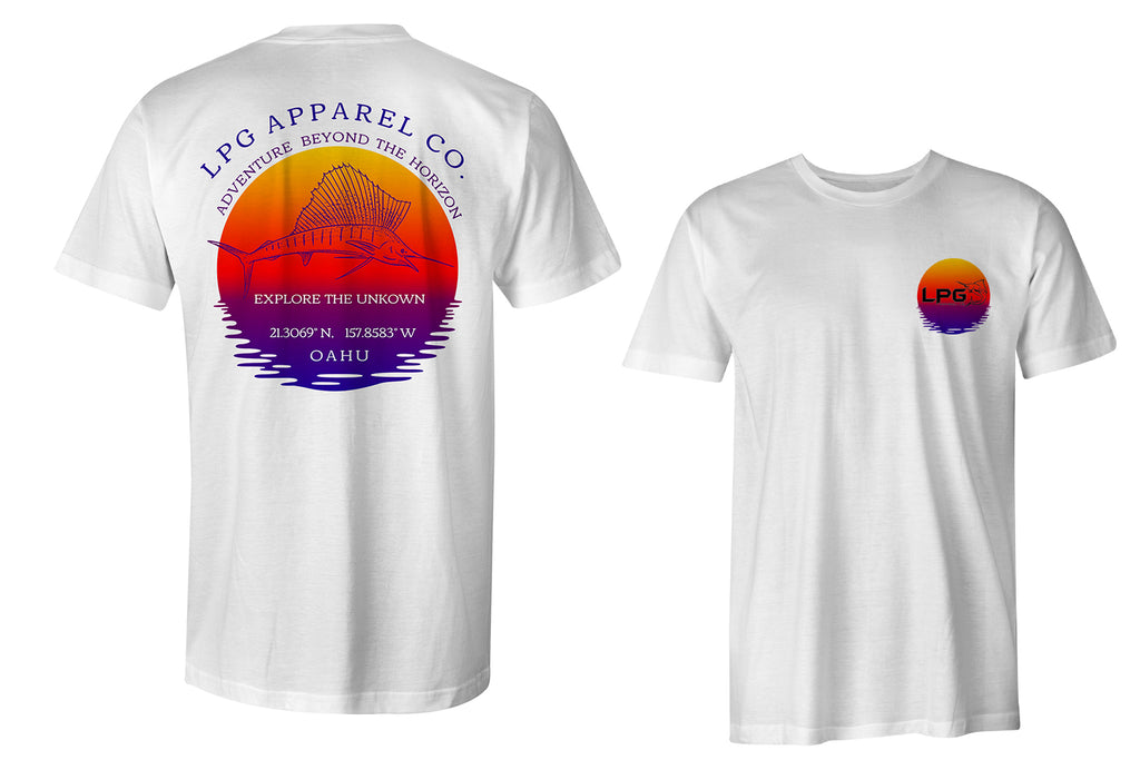 lobo-sportfishing - LPG Apparel Co. Sailfish Paradise Oahu Hawaii Performance T-Shirt - LOBO PERFORMANCE GEAR -