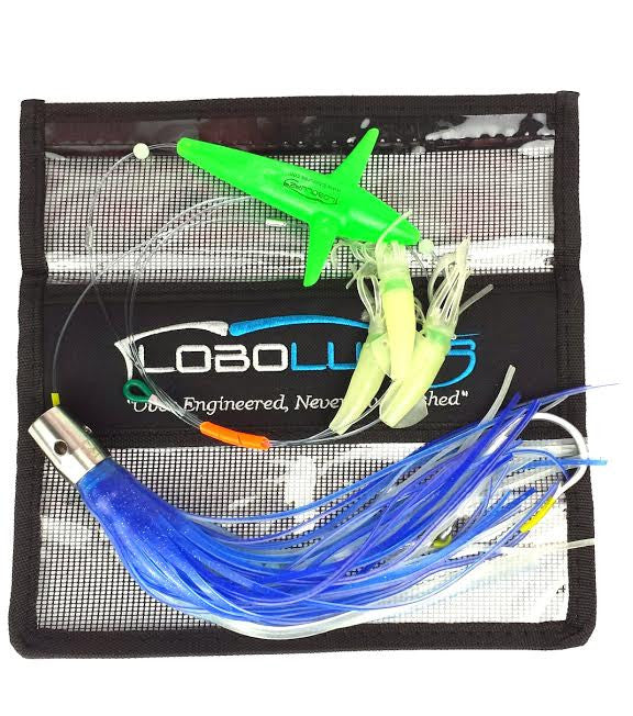 lobo-sportfishing - Lobo Lures #203 Wahoo-Pro Night Glow B2 Bigeye Daisy Chain - Lobo Marine Products LLC. - Daisy Chains