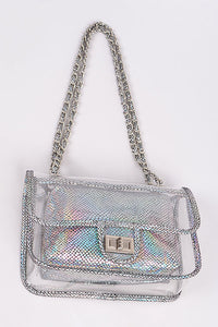 Clear Mermaid Clutch