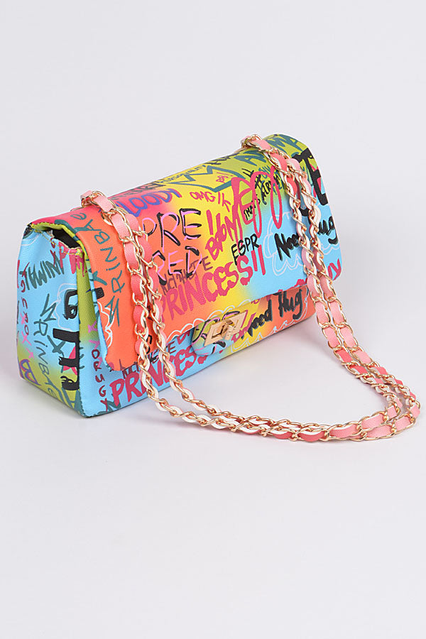 Colorful Graffiti Clutch