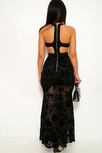 Peyton Maxi Side Split Dress - Black