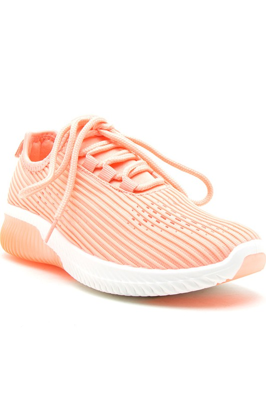 Coral Wavey Casual Sport Sneakers