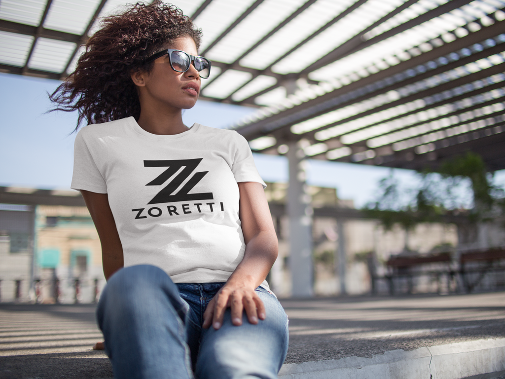 Zoretti Tall Logo Crew Neck T-Shirt - White