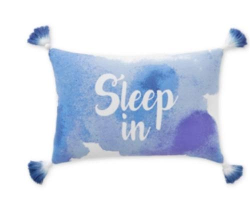 "Whim by Martha Stewart Collection Sleep in 12"" x 18"" Graphic-Print Pillow - Blue"