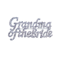 Rhinestone Pin - Grandma of the Bride - Silver