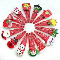 Beautiful Christmas Hair Clips Set of 10