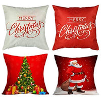 Divine Kids Decorative Christmas Pillow Covers Set of 4 Covers