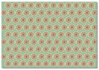 Briday Wrapping Paper - Coin Pattern Green