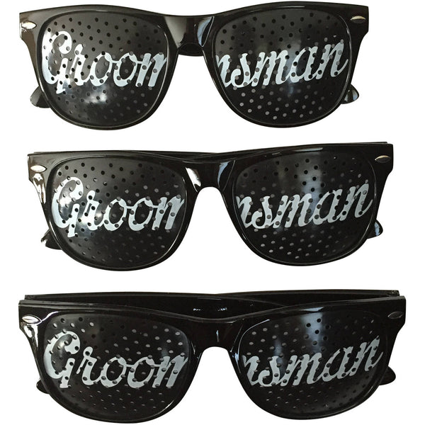 Unik Occasions Groomsman Wedding Party Sunglasses, Set of 3