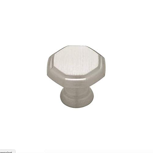"Threshold 085-03-4109 1 1/8"" Satin Nickel Octagon Cabinet Drawer Knob 2 Pack"