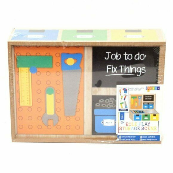 Horizon Wooden Role Play Tool Box Storage Scene Pre-K and Up