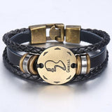 Divine Kids Zodiac Sign Leather Bracelet (Gemini)