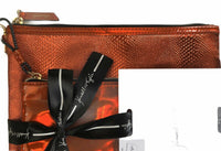 Kendall Kylie Red Travel Removable Pouches 2 Pc Gift Set Makeup Bags Faux Snake