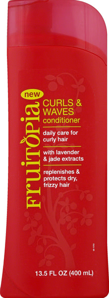 Frutopia Curls Waves Conditioner Hair Care Lavender Jade Extracts 13.5 oz