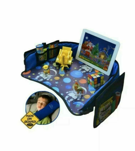 Autozon Kids Travel Tray Set For Boys Auto Activity Organizer