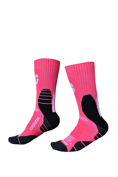 U.S. Sporting Goods Cushioned Performance Socks (Pink/Black)