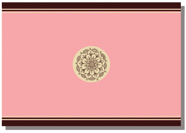 Briday Wrapping Paper - Henna Coin Design in Pink