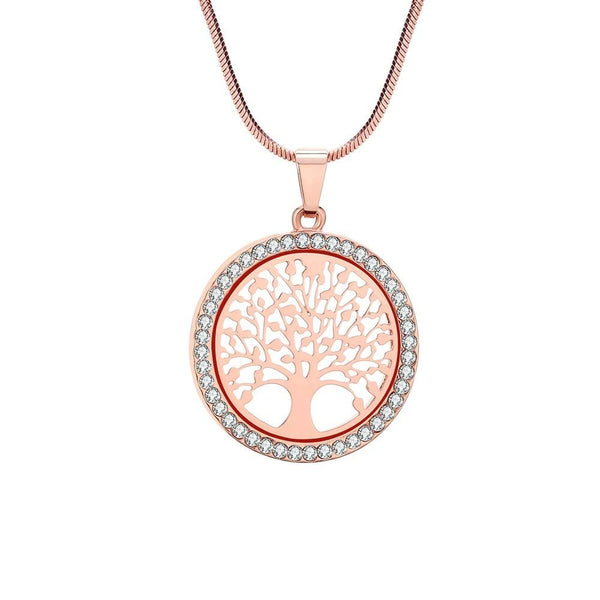 Divine Kids Tree of Life Necklace and Pendant Set (Rose Gold)