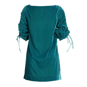 Velvet Dress (Crushed Sleeves)