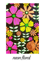 Load image into Gallery viewer, Pet Bandana-  Neon Floral