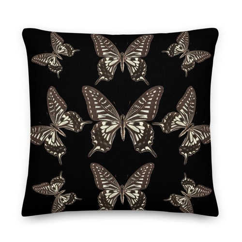 Butterfly Pillow - Black & White Throw Pillow